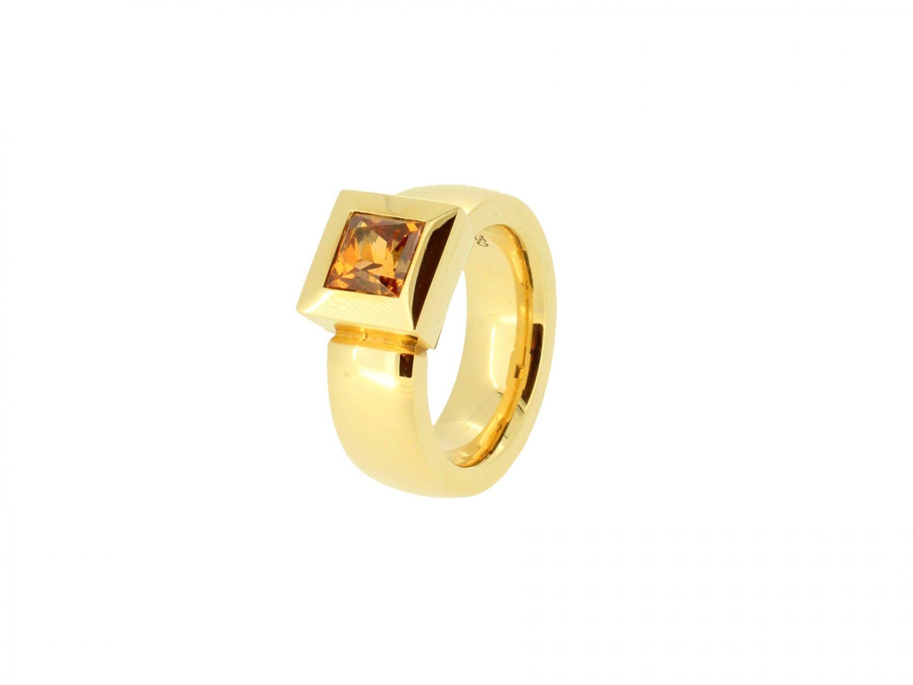 Ring Mandaringranat 18ct Gold - Jochen Pohl - 500XSgr