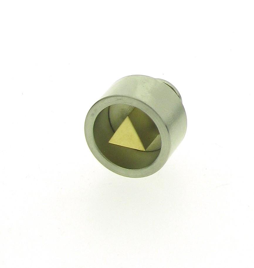 Ansteckpin Edelstahl 18ct Gold - Carl Dau - 6061-140