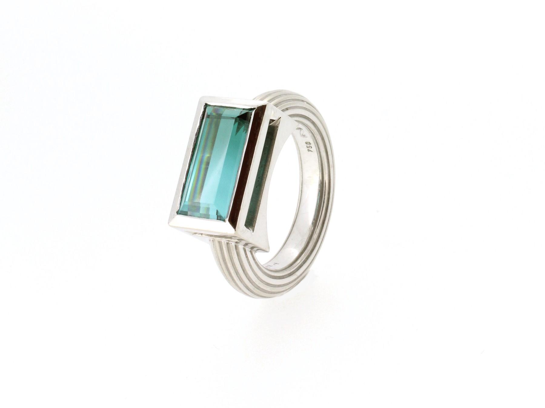 Ring Mono Turmalin 18ct Gold - Autoren Schmuck - 6/3/MonoTurmalin/14