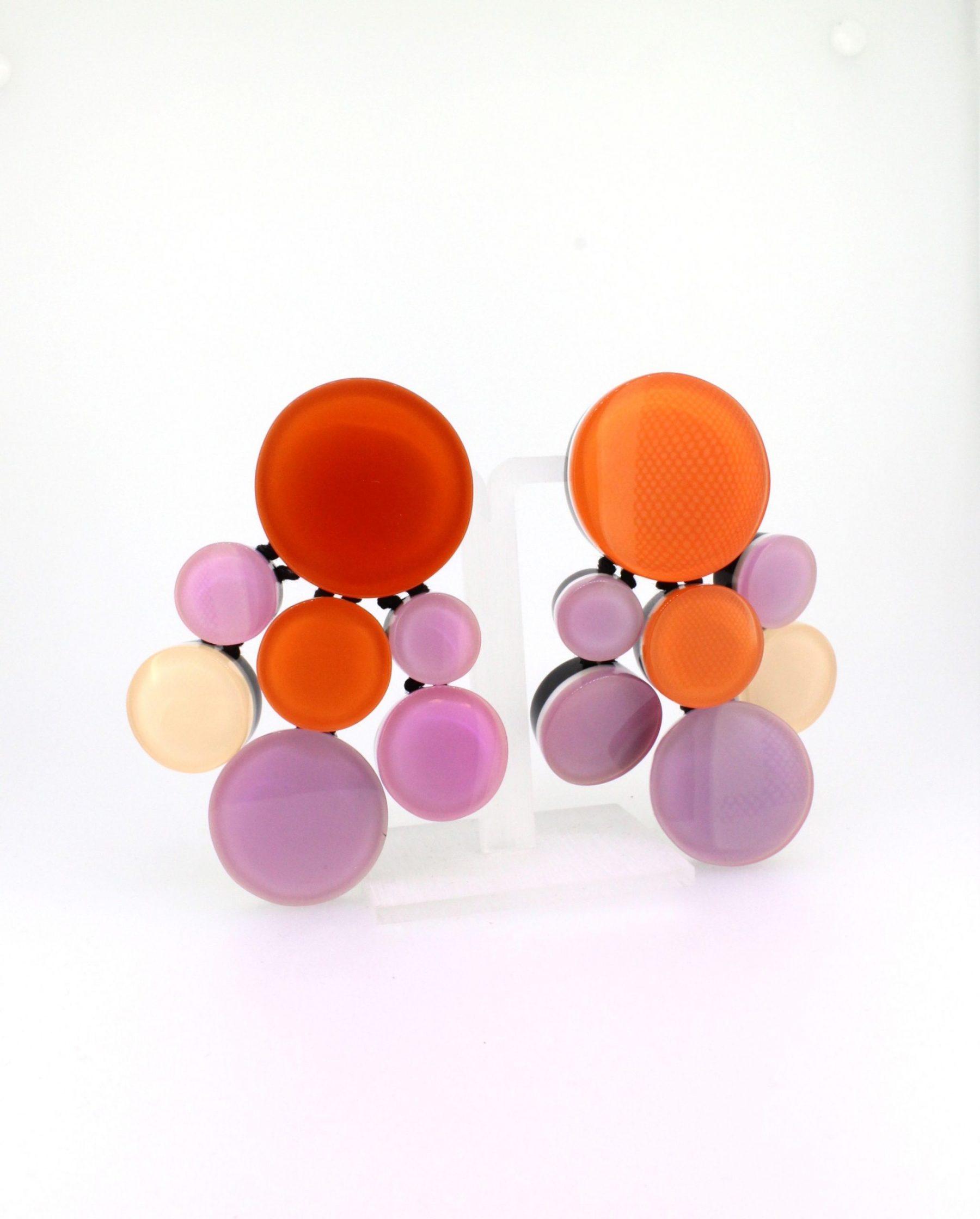 Ohrclips Polycarbonat pink - Monies - 7650PC