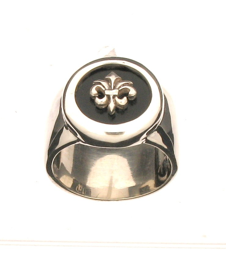Ring Lily Onyx 925 Silber - Elf Craft - 8000111553Li