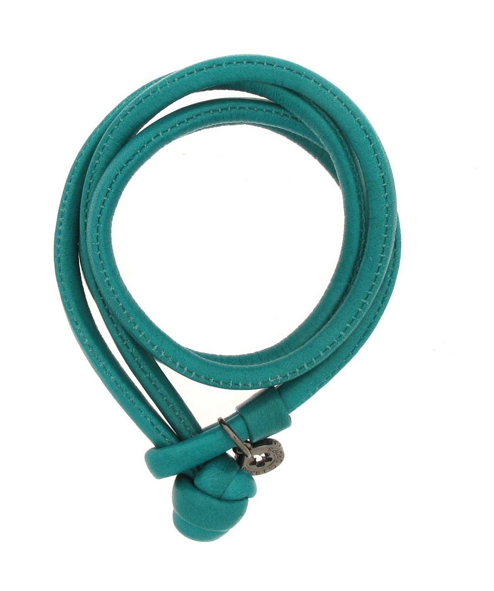 Armband Leder Aqua green S - Ole Lynggaard - A2523-001