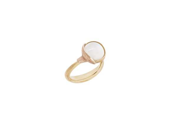 Ring Lotus no.2 Mondstein - Ole Lynggaard - A2651-406