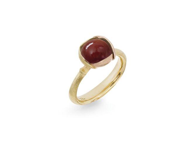 Ring Lotus no.2 Karneol - Ole Lynggaard - A2651-410