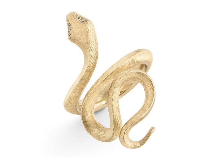 Ring Snake medium 18ct Gelbgold - Ole Lynggaard - A2673-401