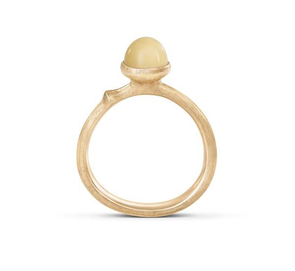 Ring Lotus no. 0 Bernstein 18ct Gold - Ole Lynggaard - A2708-401
