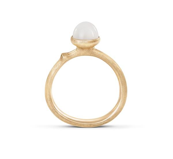 Ring Lotus 0 Mondstein weiß - Ole Lynggaard - A2708-410