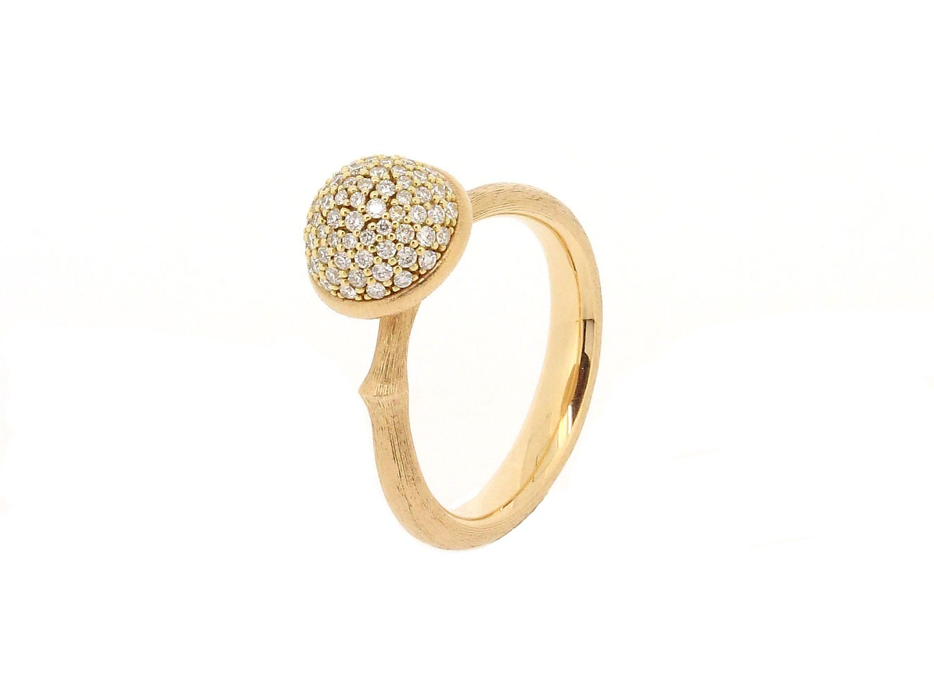 Ring Lotus Pavé 18ct Gold - Ole Lynggaard - A2711-701