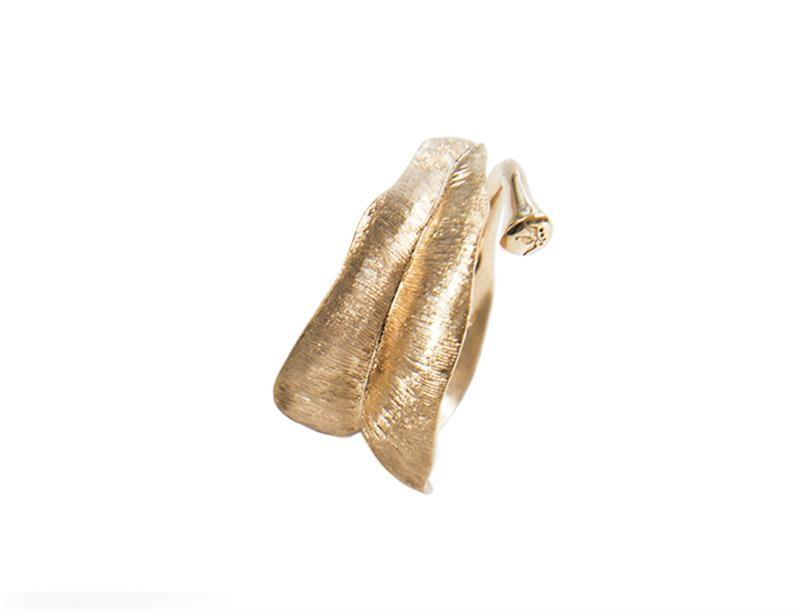Ring Leaves medium 18ct Gold - Ole Lynggaard - A3009-401