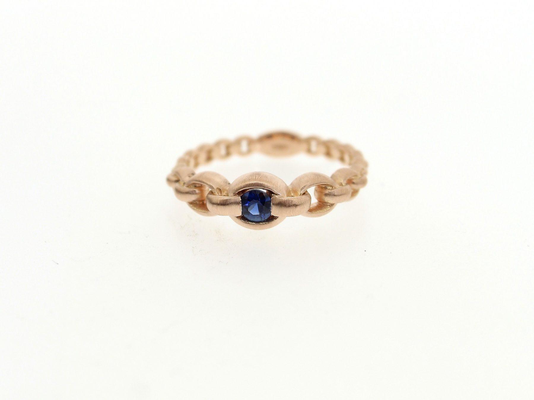 Ring Saphir 18ct Roségold - GalerieVoigt - AN29217