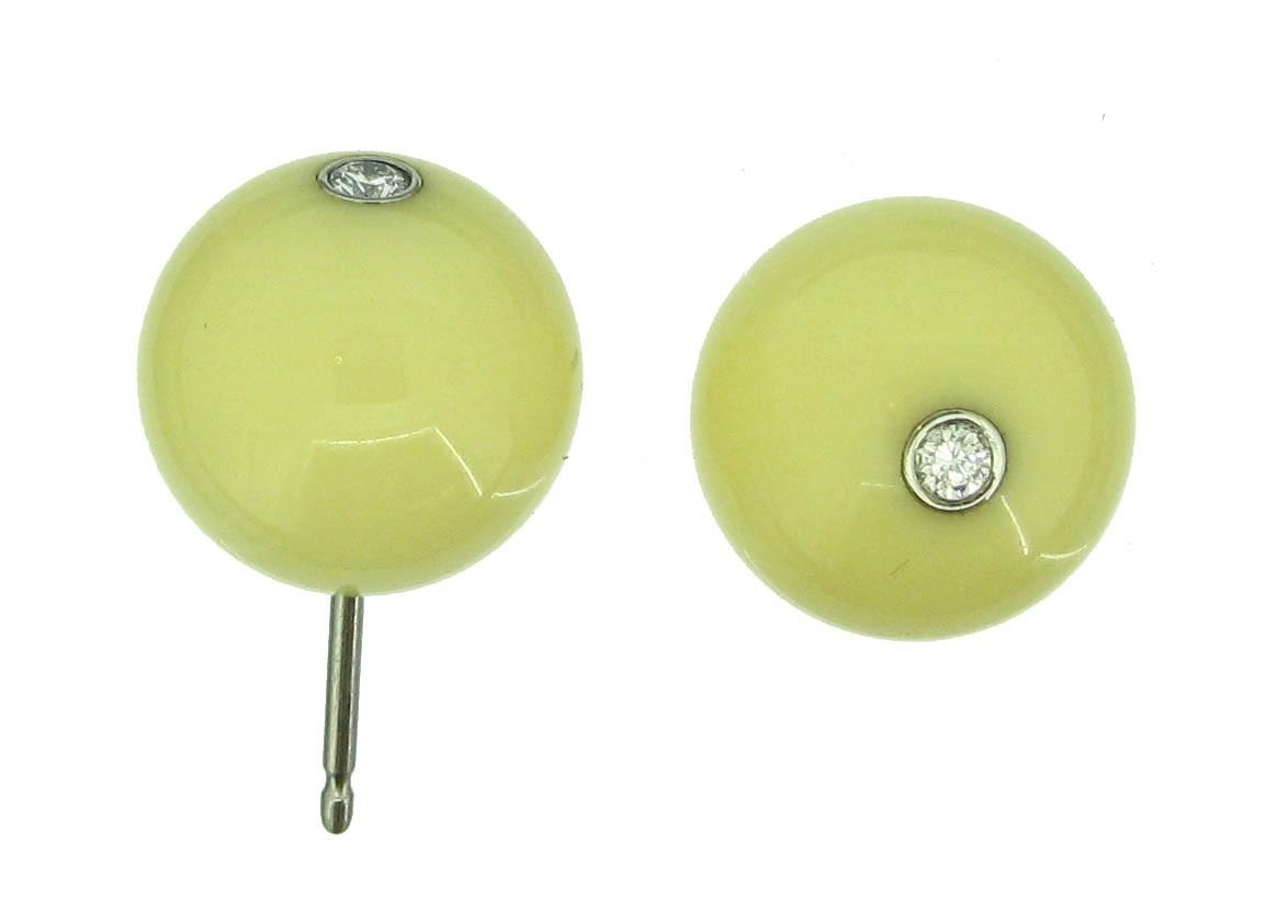 Ohrringe weiß Brillant - tamawa - BO12BC-D