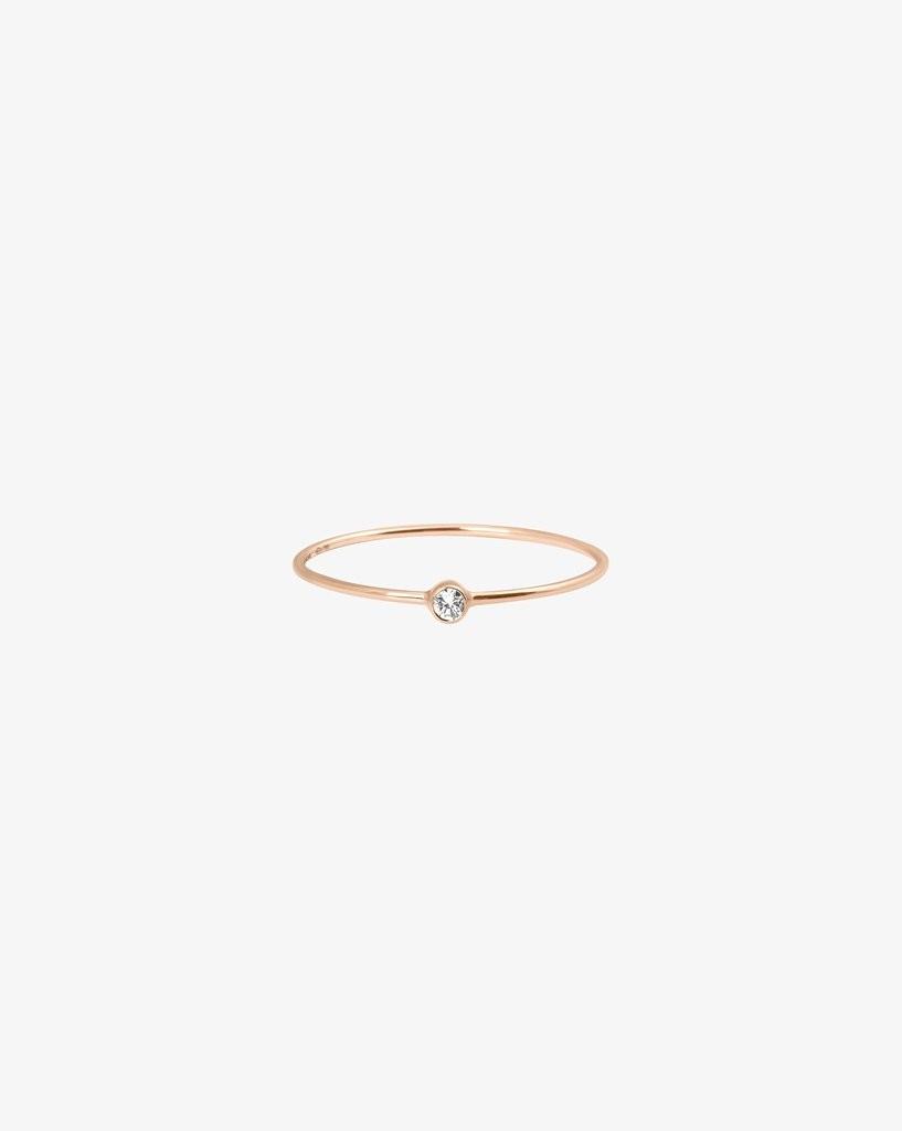 Ring One Diamant 18ct Roségold - vanrycke - BO2R1-01
