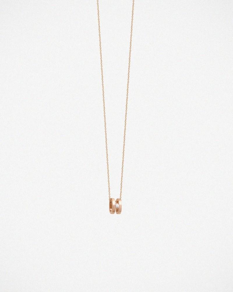 Kette Charlie Roségold Diamant - vanrycke - CC3R1-01
