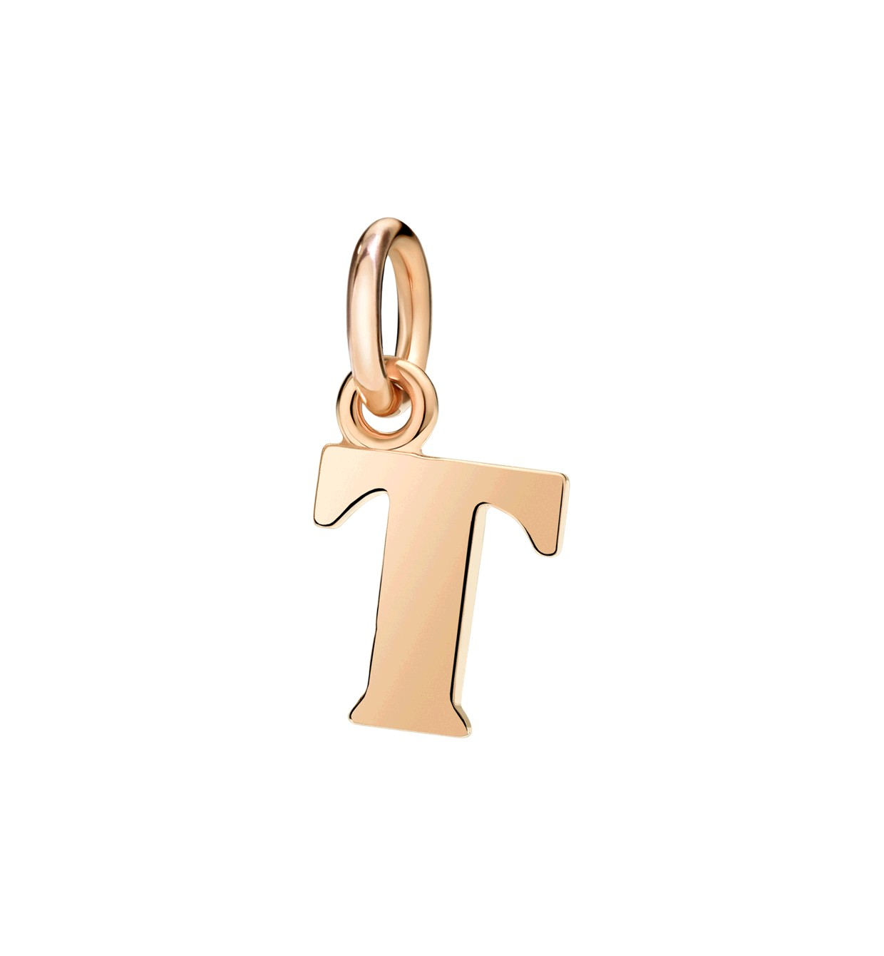 Charm Buchstabe T 9ct Roségold - Dodo - DLET9/T