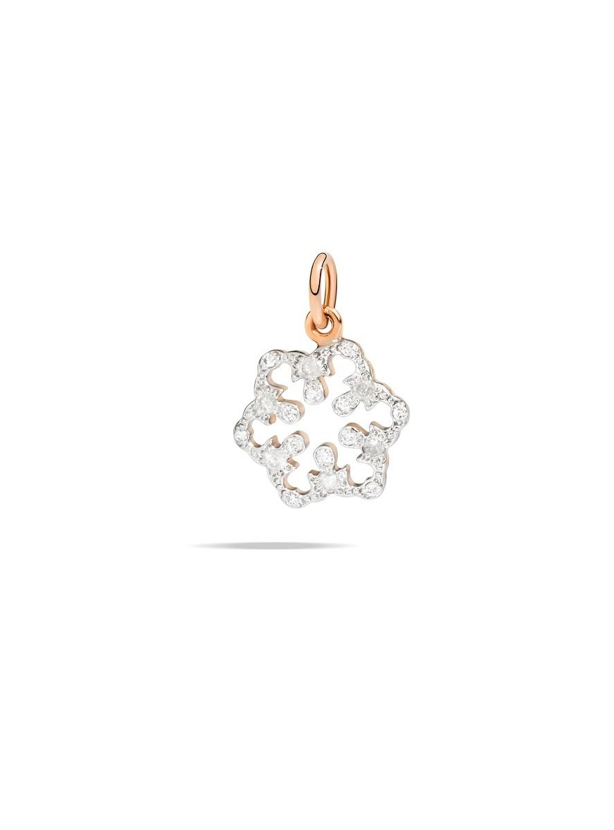 Charm Schneeflocke Diamanten - Dodo - DMSF/9/BI/K