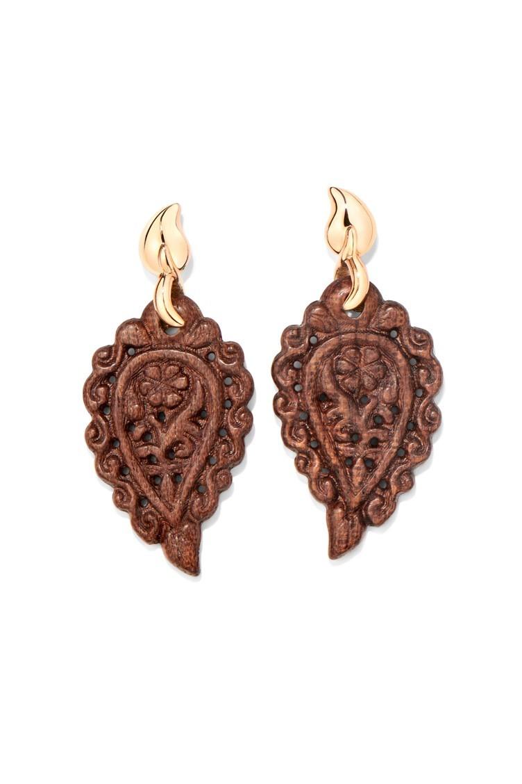 Ohrringe India Snake Wood - Tamara Comolli - E-IND-SW-rg