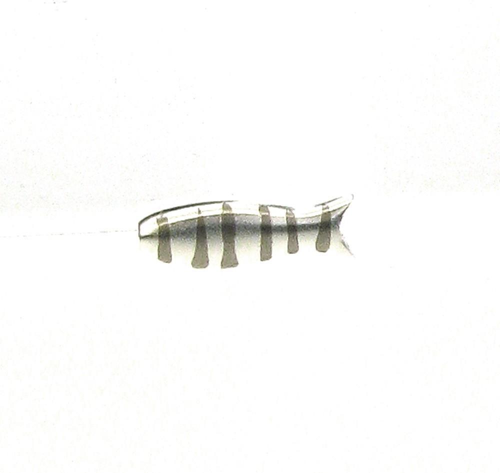 Anhänger kleiner Fisch Silber Streifen - Sabine Scheuble - F10007SPS