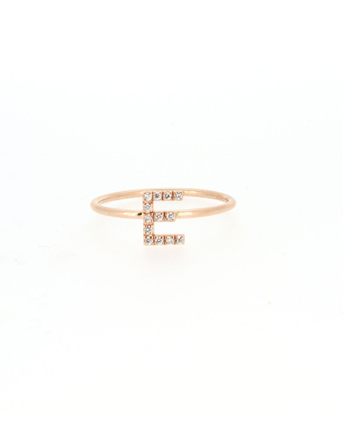Ring Buchstabe E Brillanten - GalerieVoigt - FA1781-ER001