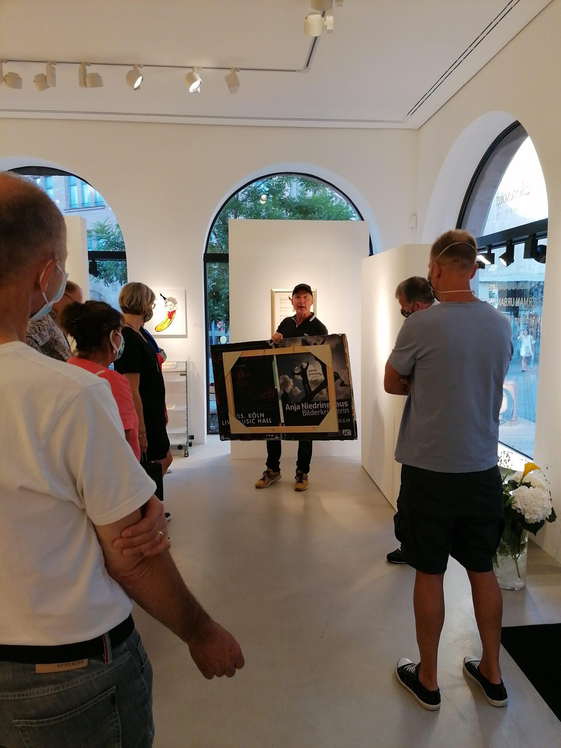 """Eröffnung der Ausstellung """"GERMAN URBAN POP ART"""" zusammen mit Thomas Baumgärtel ©GalerieVoigt"""