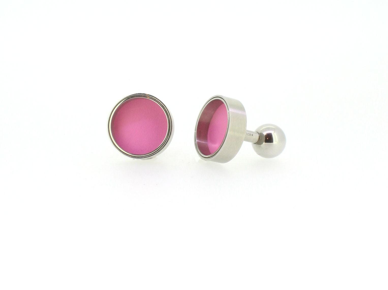Manschettenknöpfe Edelstahl - Carl Dau - M-MK1-pink