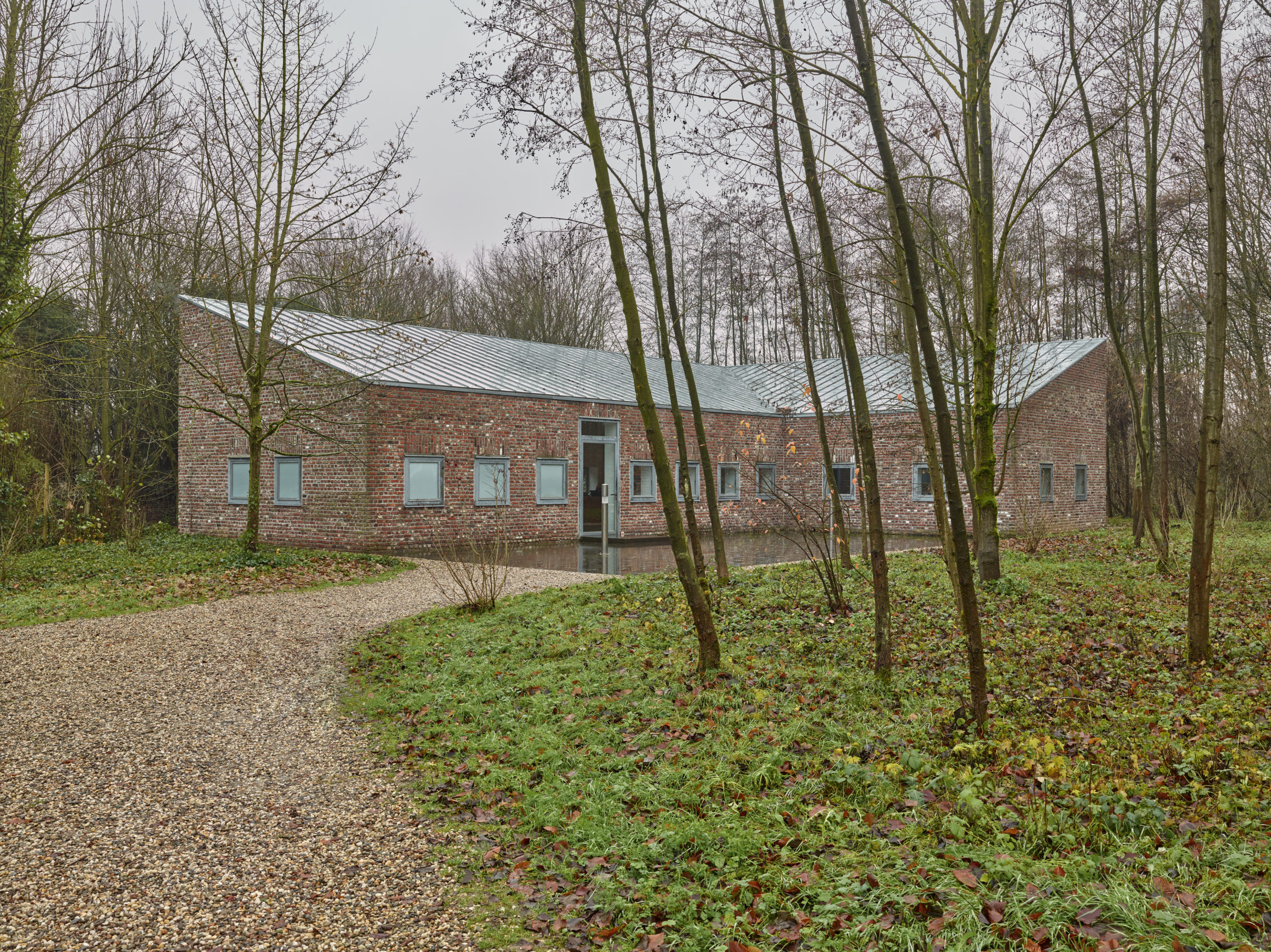 Museum Insel Hombroich; Kassenhaus, Architektur: Erwin Heerich ©Tomas Riehle