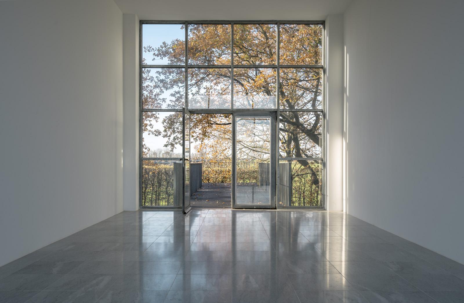 Museum Insel Hombroich; Tadeusz-Pavillon (nach der Renovierung 2015)Architektur: Erwin Heerich ©Tomas Riehle