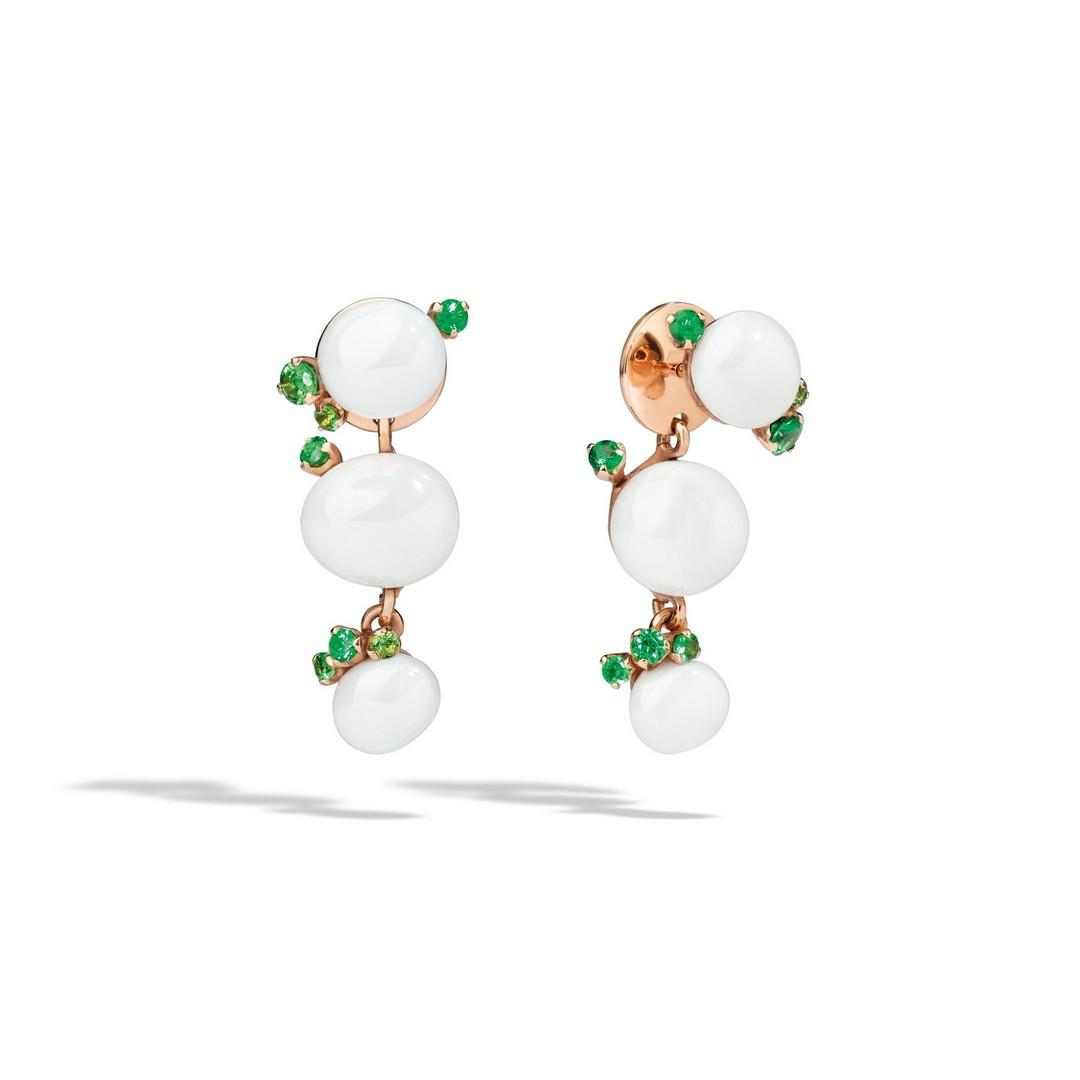 Ohrringe Capri weiße Keramik - Pomellato - O.B610/O7/CBTZ