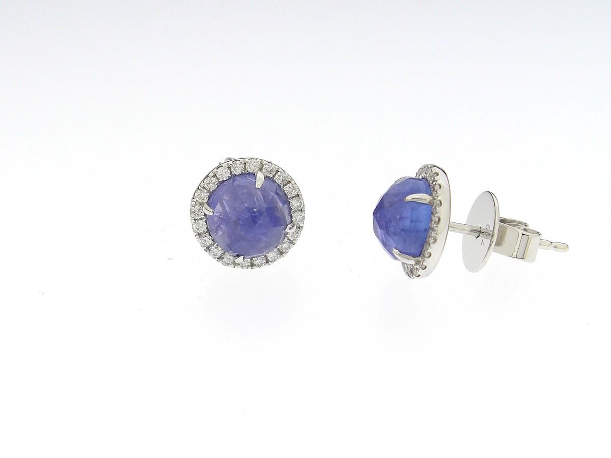 Ohrstecker Tansanit Diamanten - GalerieVoigt - OR-ASPEN-065