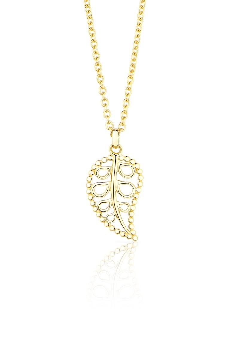 Anhänger India 18ct Gelbgold - Tamara Comolli - P-IND-Leaf-s-yg
