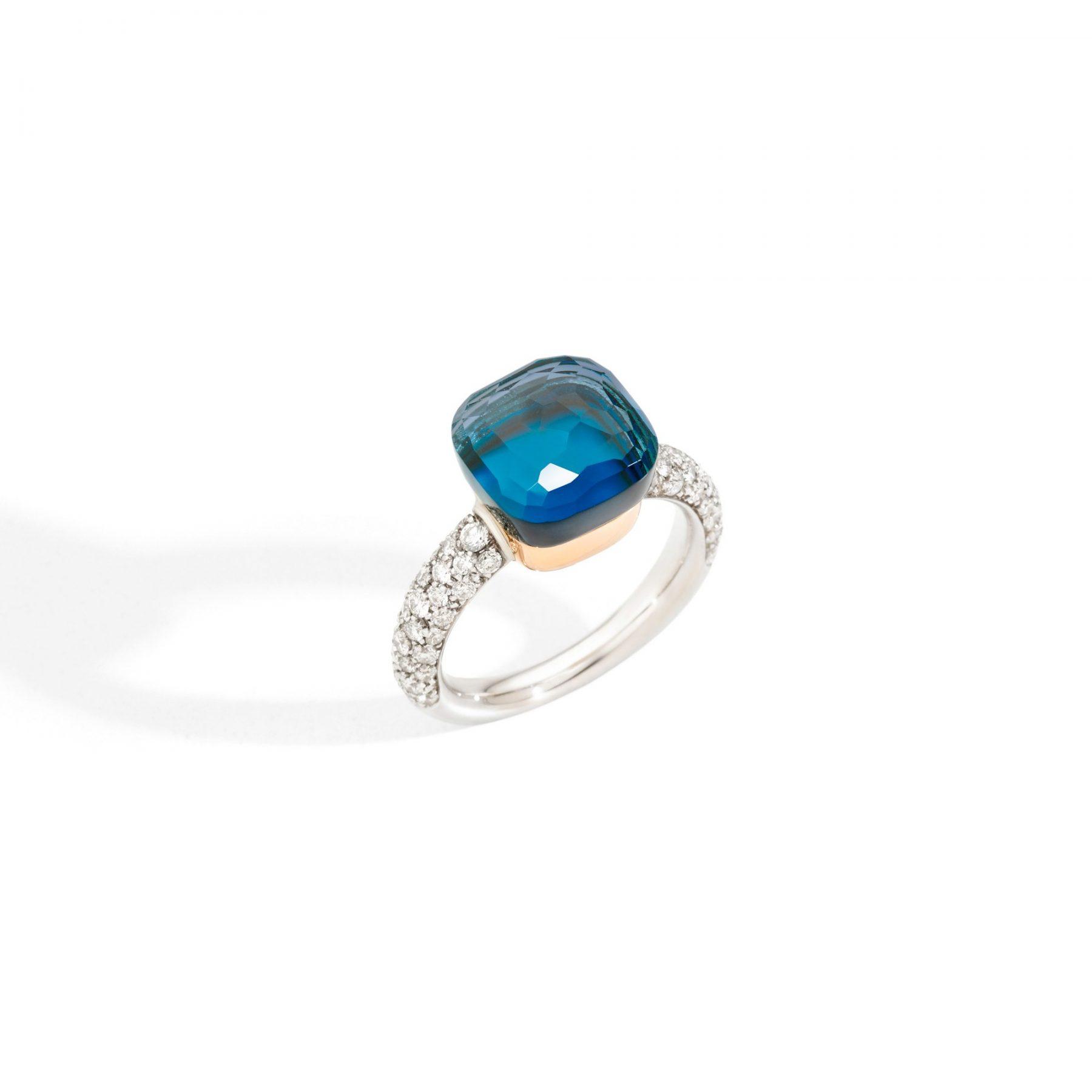 Ring Nudo Classic London Blue Topas - Pomellato - PAC0040O6WHRB0TTU