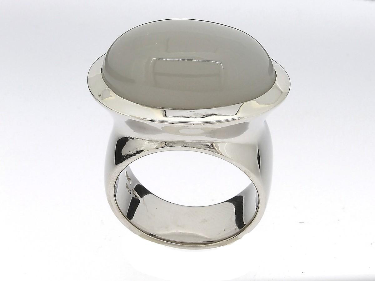 Ring Mondstein 950 Palladium - Individuelle Marken - R-4422Pd