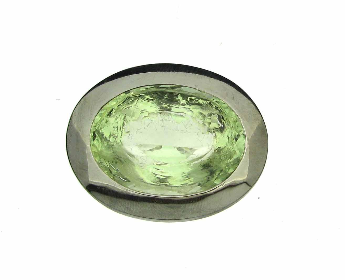 Schließe Prasiolith 925 Silber - Individuelle Marken - SI-WV-OV-PR