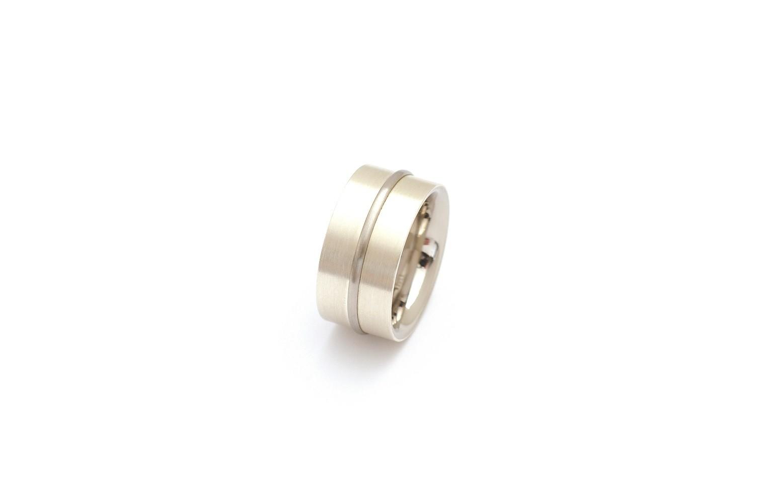 Bandring 925 Silber Edelstahl - Carl Dau - SR-CXL/41