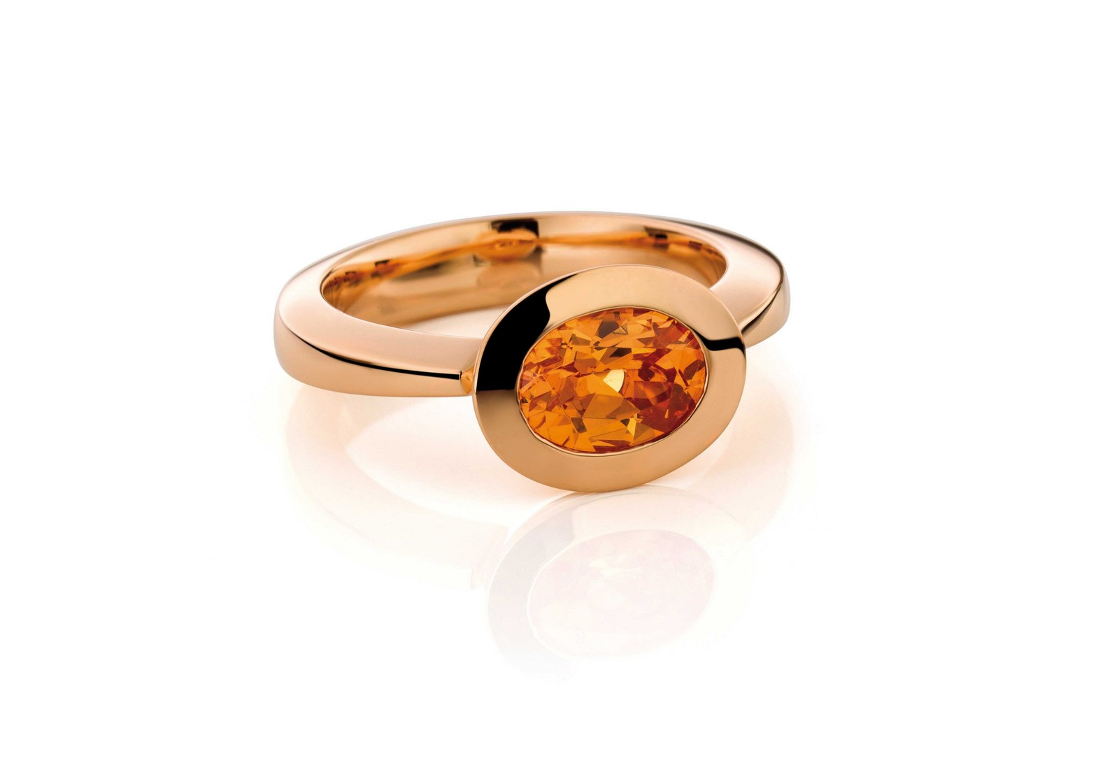 Ring Mandaringranat 18ct Gold - Jochen Pohl - T4F5ro-mag