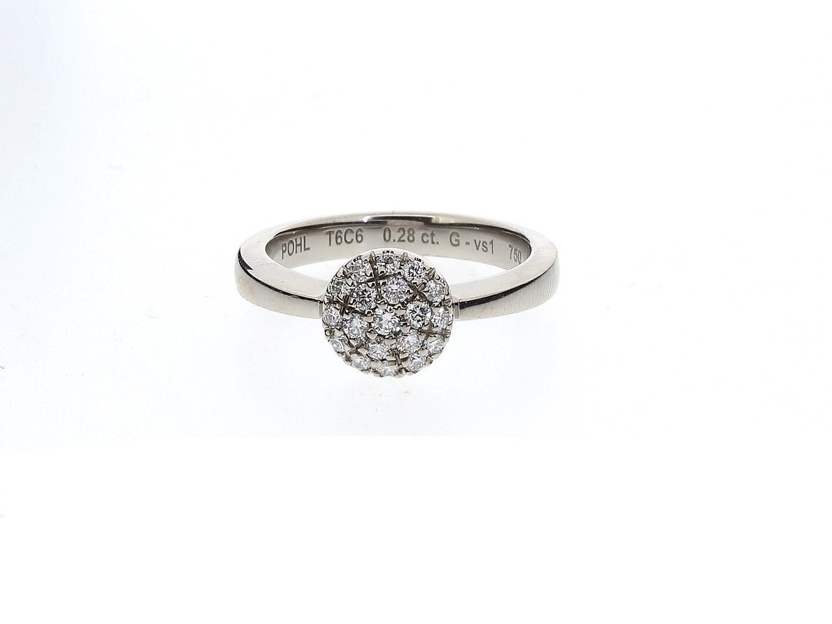 Ring Brillanten 18ct Weißgold - Jochen Pohl - T6C6