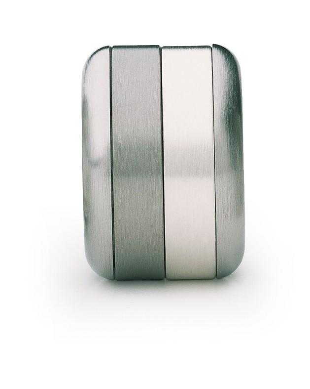Ring Silber Titan Edelstahl - Carl Dau - VR10