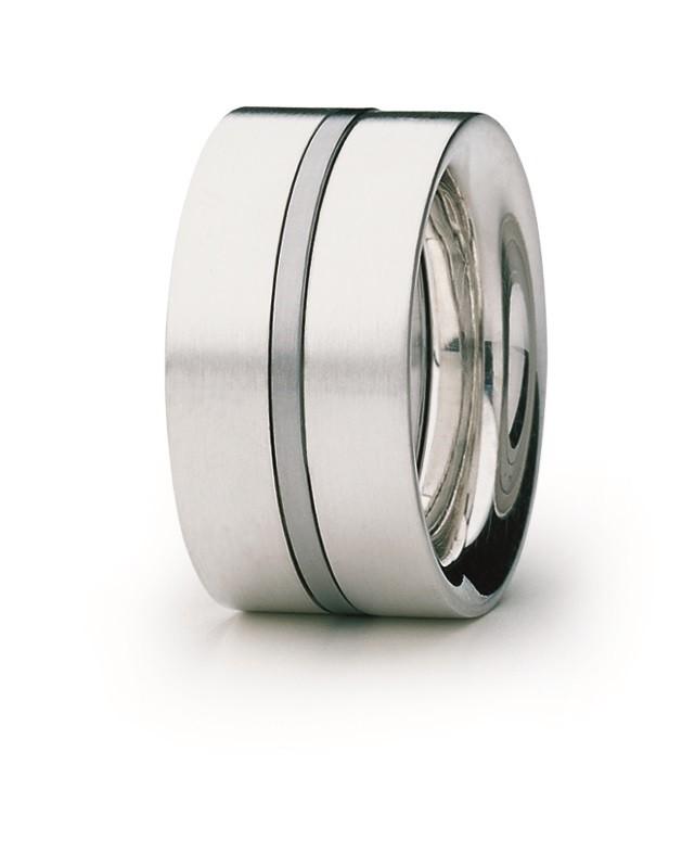 Ring 925 Silber Edelstahl - Carl Dau - VR29A