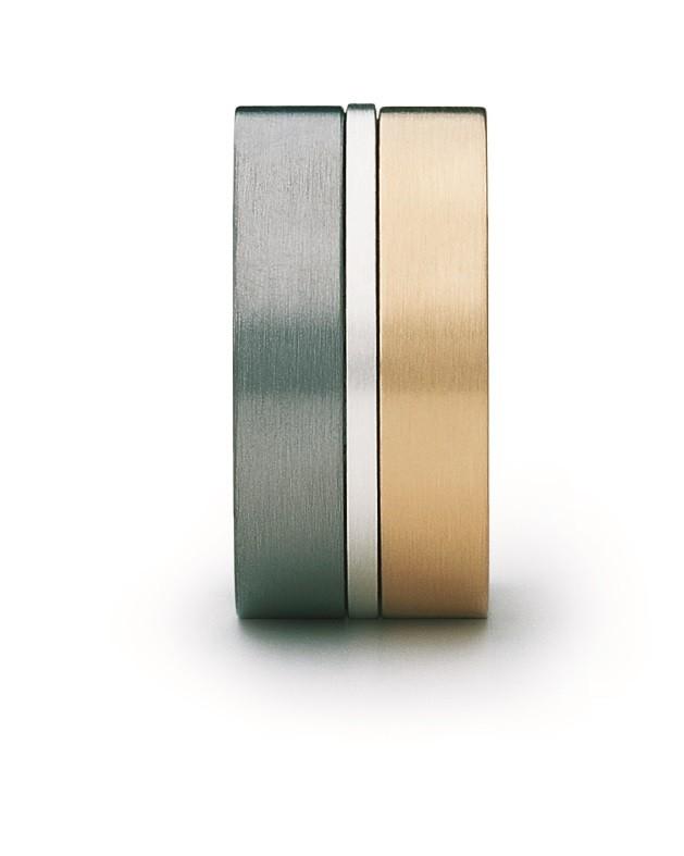 Ring Variabel 18ct Gold Silber - Carl Dau - VR55
