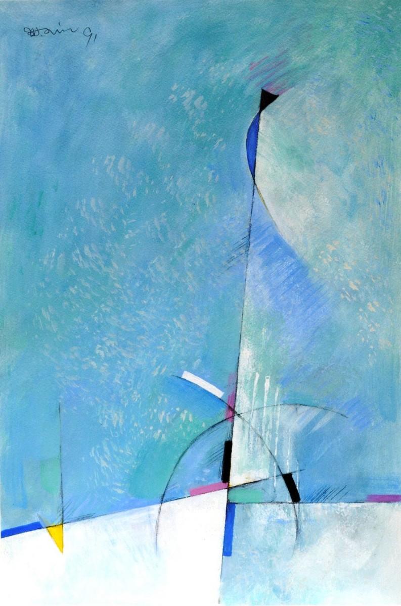 "Abstrakt ""hellblau"" - Shuhua, Jin - k-05825"