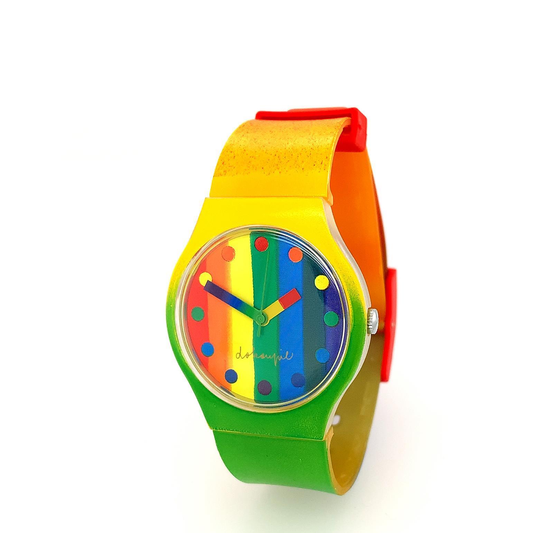 """Uhr """"Rainbow"""" - Dokoupil, Jiri Georg - k-06995"""