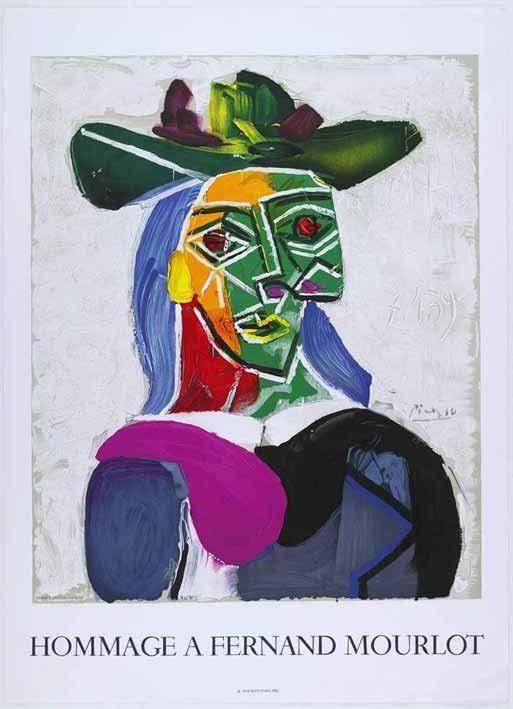 Plakat Hommage à Mourlot - Picasso, Pablo - k-10351