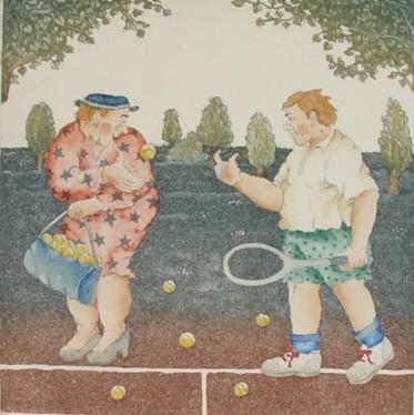 Tennis - Thrän, Christina - k-10407