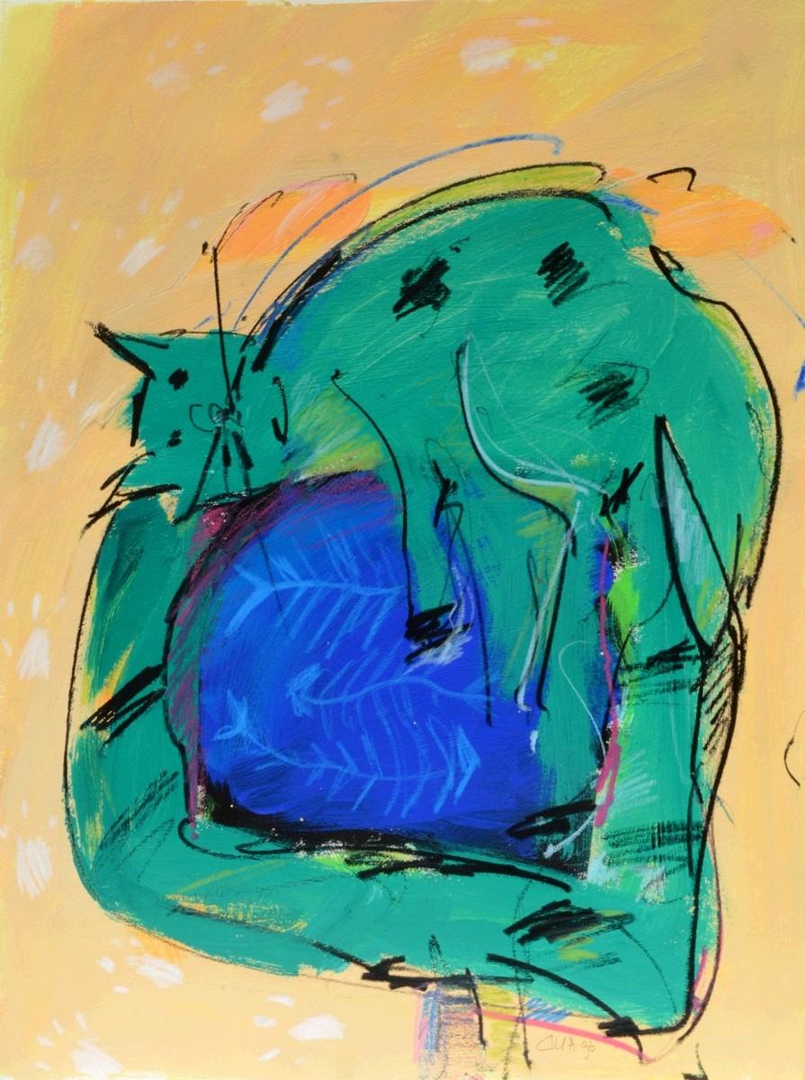 grüne Katze - De Munnik, Cilla - k-10919