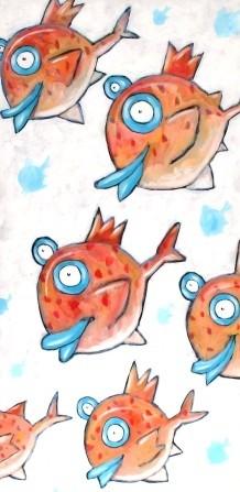 fish swimming - Kaufmann, Charles - k-13303
