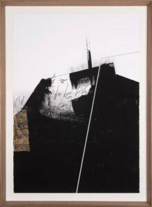Jamie Jurado: Black I, Collage, 83 x 113 cm, inklusive hochwertigem Holzrahmen, 1.100 Eur