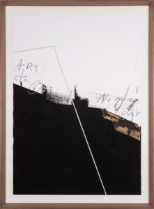 Jamie Jurado: Black II, Collage, 83 x 113 cm, inklusive hochwertigem Holzrahmen, 1.100 Eur
