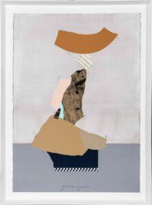 Jamie Jurado: Equilibrio Collage I, Collage, 83 x 113 cm, inklusive hochwertigem Holzrahmen, 1.100 Eur