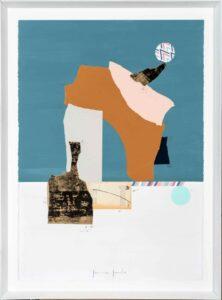 Jamie Jurado: Equilibrio Collage II, Collage, 83 x 113 cm, inklusive hochwertigem Holzrahmen, 1.100 Eur