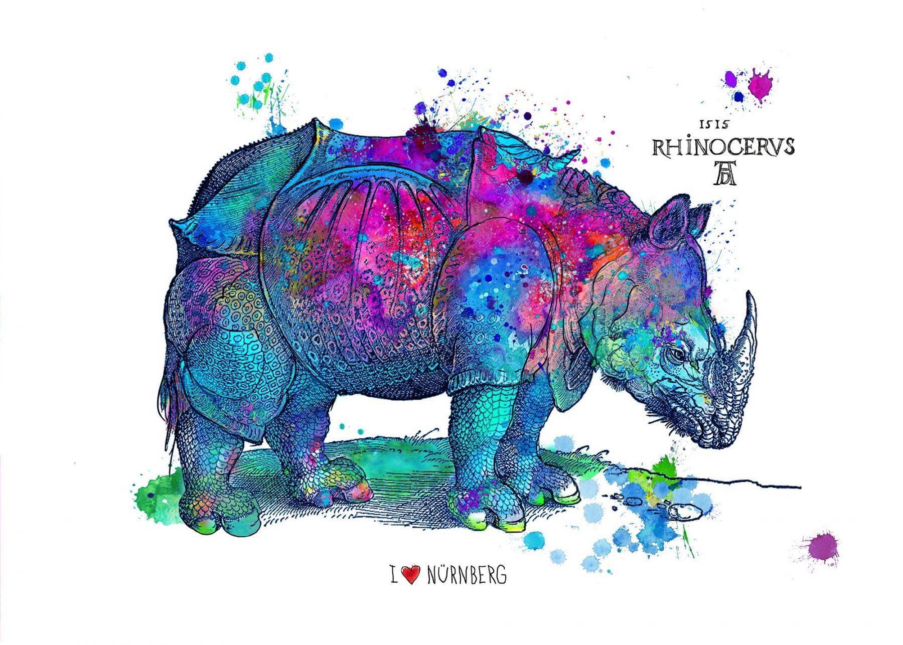 Happy Rhino, blau - Osten, Birgit - k-BO12