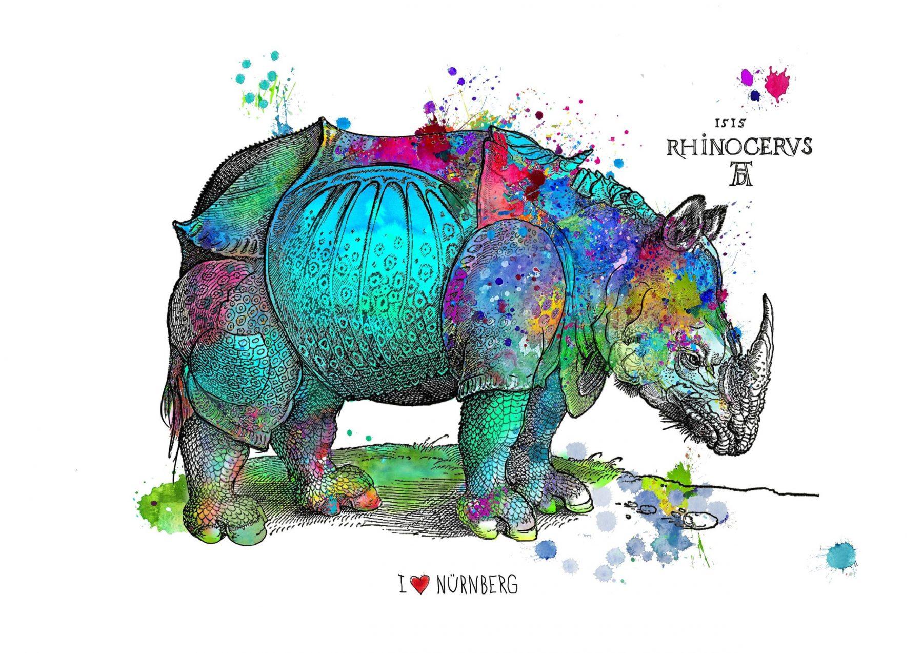 Happy Rhino, türkis - Osten, Birgit - k-BO39